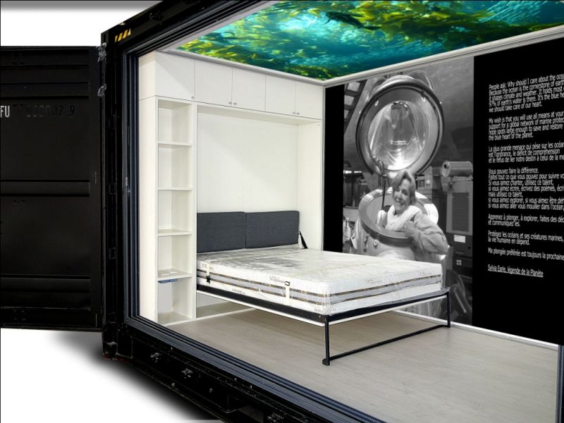 Autonomous Eco Container Cabin Bedroom