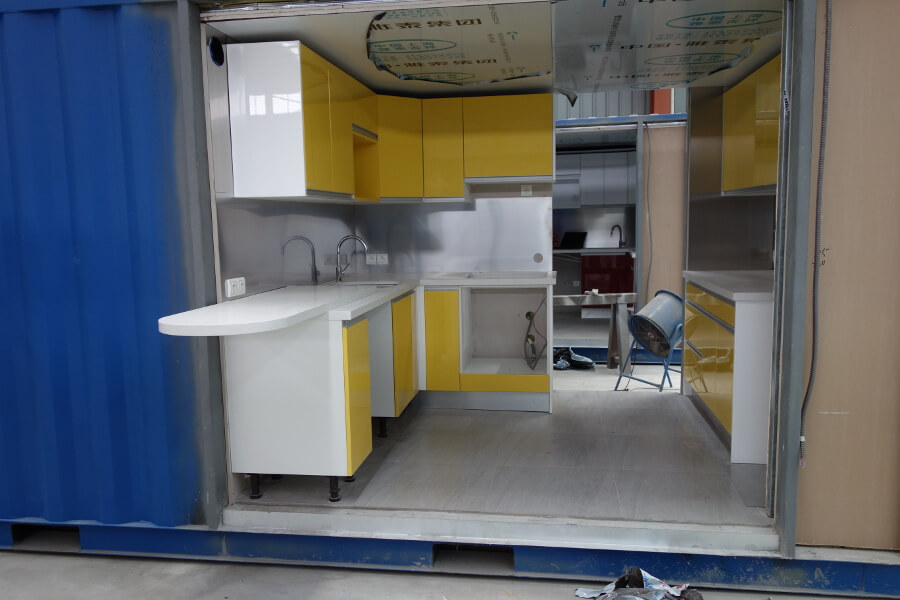 Bathroom and kitchen pods and prefabricated modules for Prefab guest house with bathroom and kitchen