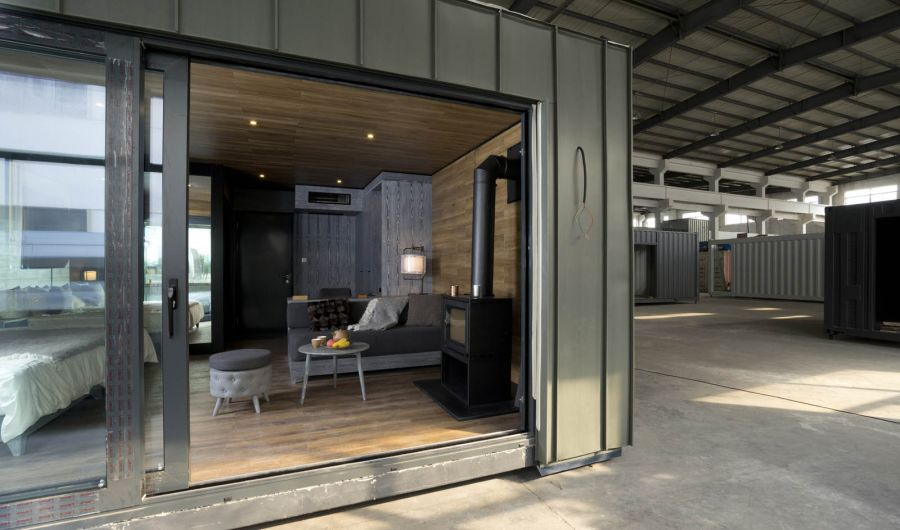 XCUBE Luxury Modular Hotel in the Factory