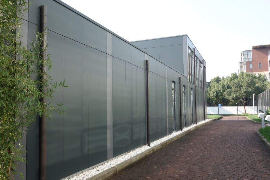 Modular Office and showroom German Centre Shanghai facade