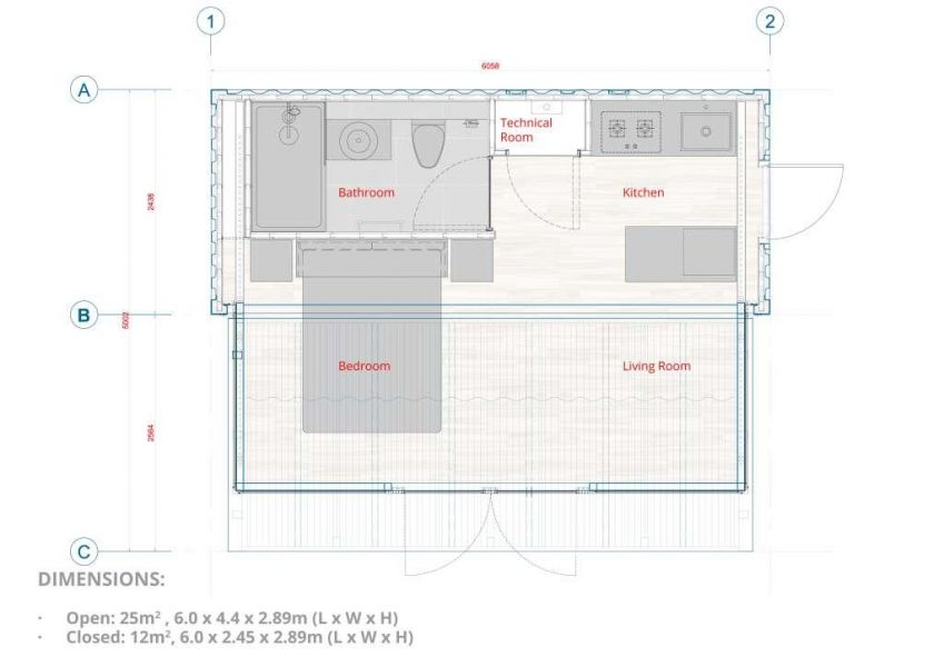 FLEXeCUBE modular pod floor plan layout