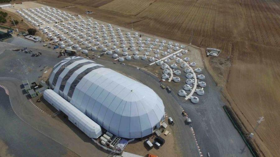 250 Geodesic domes in the Sierra Nevada Spain