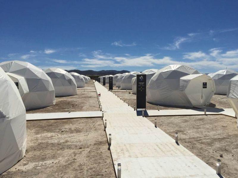 Geodesic dome camp