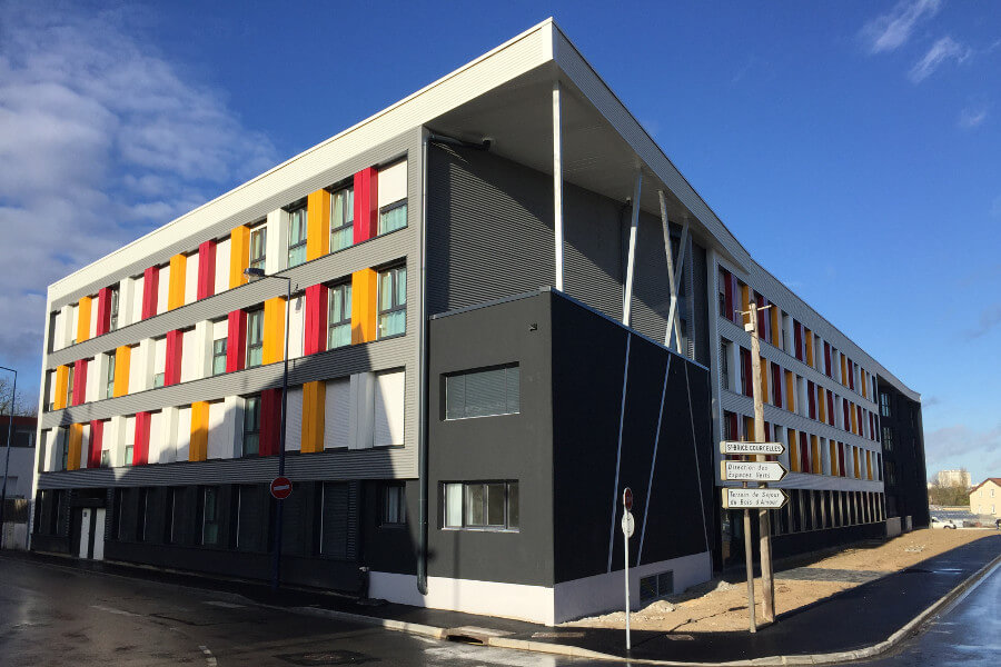 XCUBE Container student housing France front view
